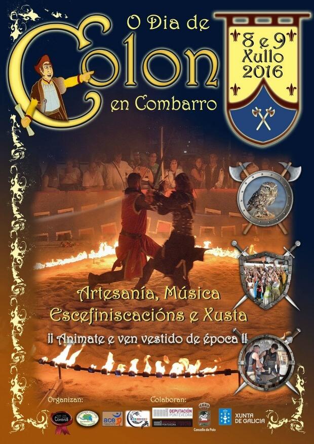 cartel o dia de colon festa medieval 2016