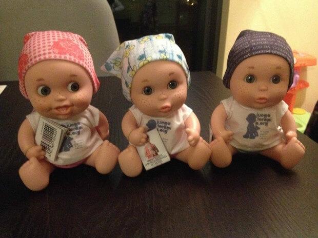 juguetes solidarios baby pelones