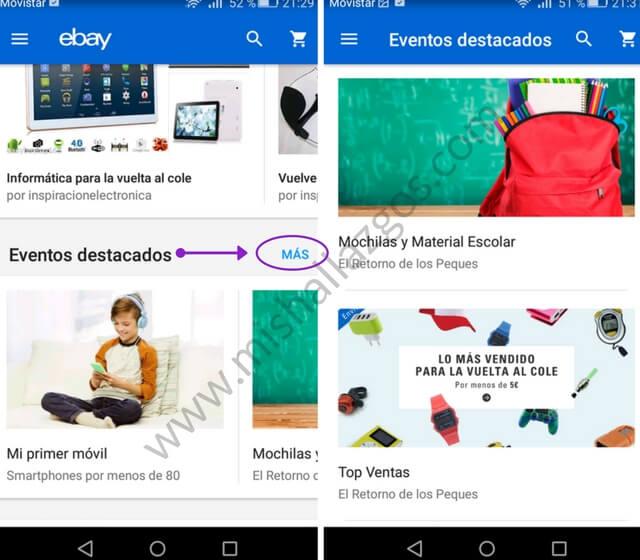 vuelta al cole app ebay