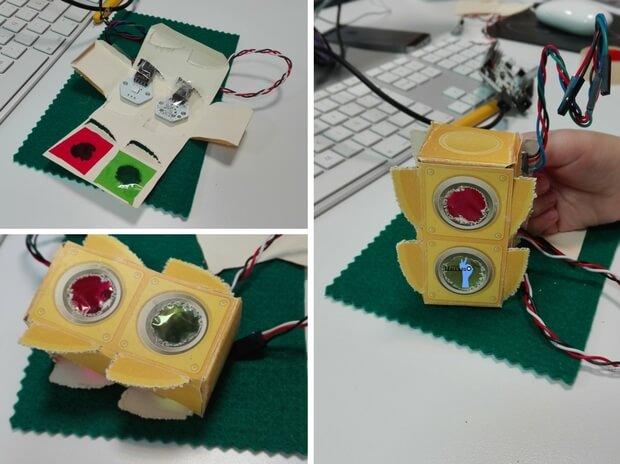 talleres de robótica en familia semaforo